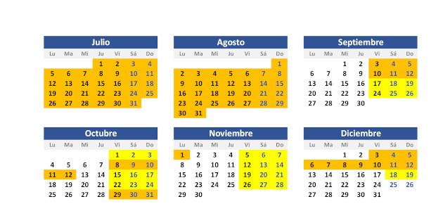 Calendario temporadas